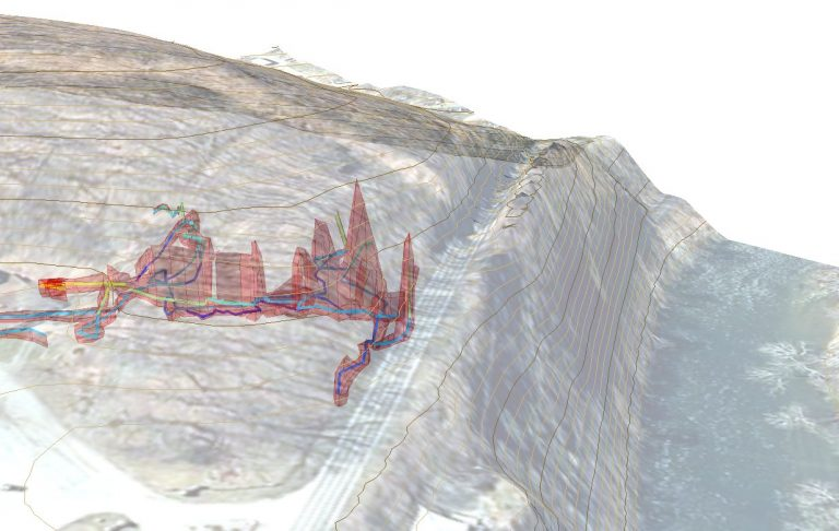 Combining commercial data with cave data for a road widening project. Image courtesy of Mike Futrell.